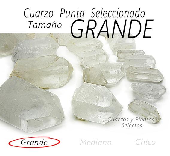 Grande 6 Pzas Cuarzo Punta Semi Bruto 6 A 8 Cm