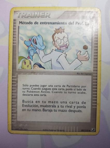 Carta Pokémon Tcg Item Método De Treinamento Do Professor