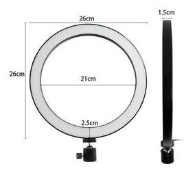 Ring Light Completo Iluminador Portátil 26cm Com Tripé1.6m