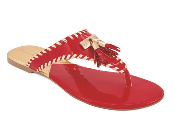 Sandalia De Piso Para Dama Rojo 016094
