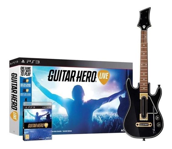Jogo Guitar Hero Live Ps3 Acompanha Guitarra Box Novo