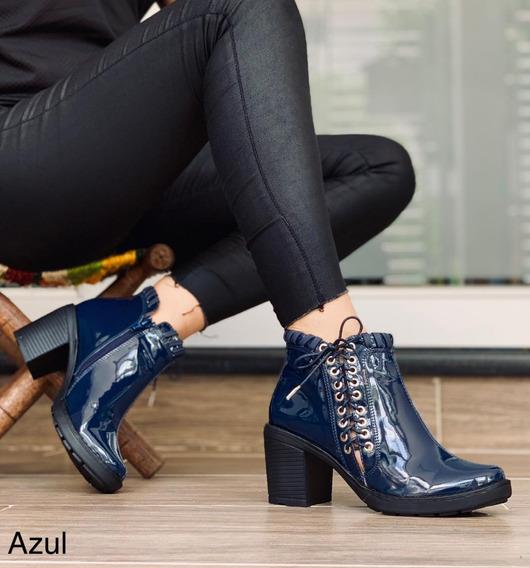 Zapatos Botines Sharol Patentes Dama Moda Colombiana