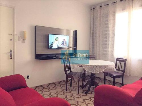 Imagem 1 de 10 de Apartamento Com 1 Dormitório À Venda, 65 M² Por R$ 195.000 - Canto Do Forte - Praia Grande/sp - Ap0691