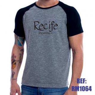 Camisa Raglan Recife Pernambuco Mescla