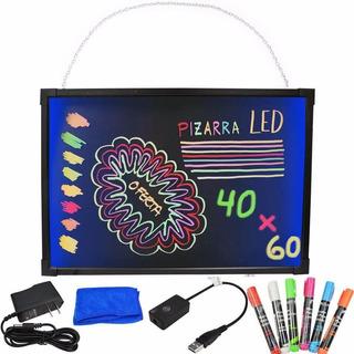 Pizarra Led Electrónica Fluorescente 60cm X 40cm Para Colgar