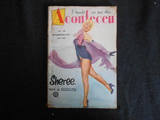 Revista Aconteceu - Nº 23 - Setembro De 1955 - Sheree