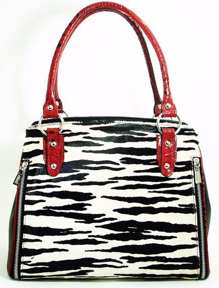 Cartera De Cuero Animal Print