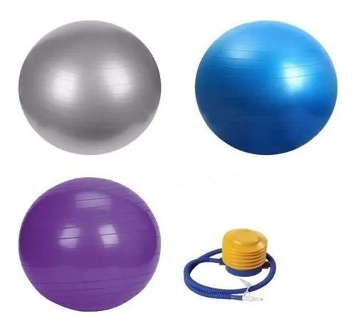 Oferta Pelota Balon 75 Cm Pilates Yoga + Inflador Pelotas