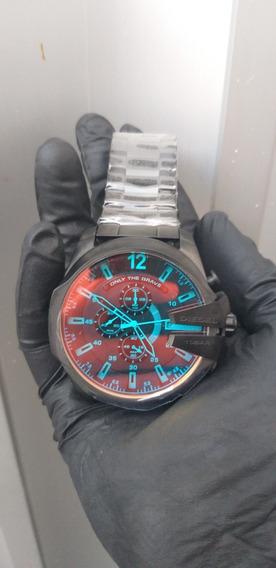 Relógio Diesel Mega Chief 10 Bar- Feito Em Aço Inoxidável, 100% Funcional, Vidro De Cristal Mineral, Garantia
