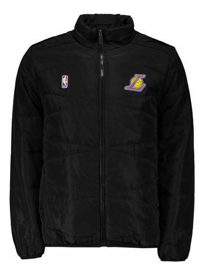 Jaqueta Nba Los Angeles Lakers Escudo Preta