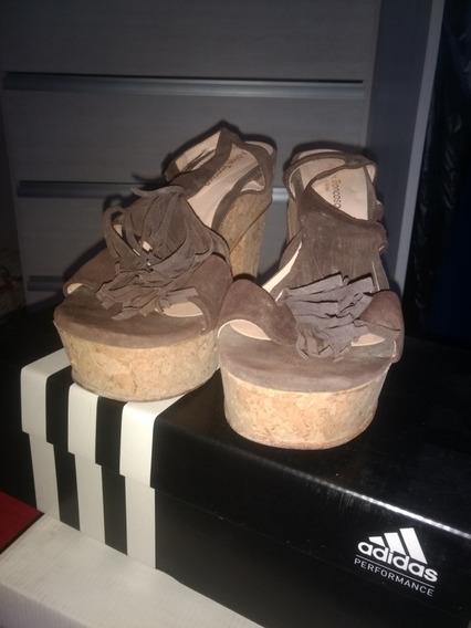 Sandalias Con Plataforma De Corcho