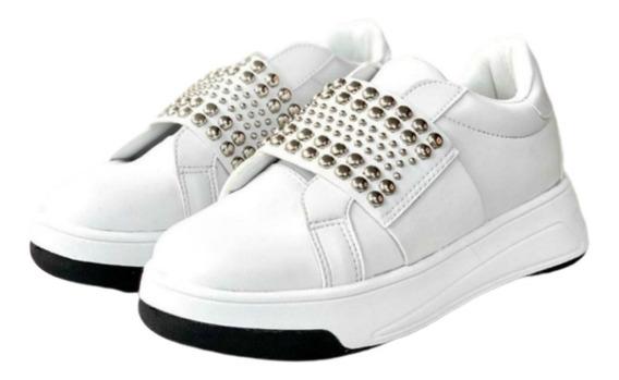 Zapatillas Zapato Mujer Sneaker Urbana Plataforma Moda Tacha
