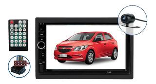 Multimídia Chevrolet Onix Ls E Lt 2013 2014 2015 2016 2017 2018 2019 Espelha Andoid Ios Bluetooth + Câmera De Ré