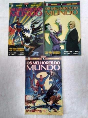 Mini Série Melhores Do Mundo 3 Edições Gibi Hq B1