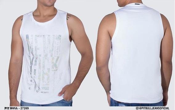 Promoção!! Regata Masculina Pit Bull Jeans Original 27269