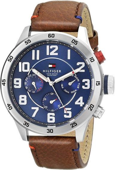 Relógio Tommy Hilfiger 1791066 Pulseira Couro Marrom