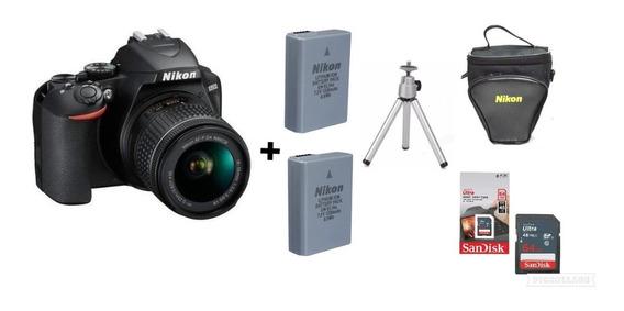 Câmera Nikon D3500c/18-55mm+2 Baterias+ 64gb +bolsa +tripé