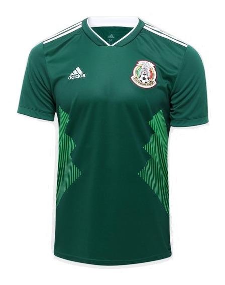 Camisa adidas Seleção México I Verde Copa 2018 2019 Original