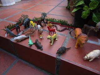 Juego Lote De 19 Animales Exoticos