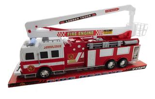 Camión De Bomberos 44cm Fire Rescue Con Escalera Sh-8855