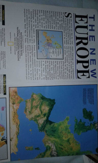 The New Europe (october 1992) Mapa Nat. Geographic