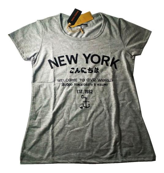 Remera New York - Mujer - Algodón Peruano