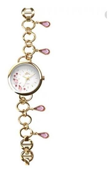 Relógio Allora Feminino Al2036fgq/4k Dourado Berloqueira
