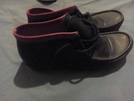 Zapato Cuero Negro Botineta -poco Uso-