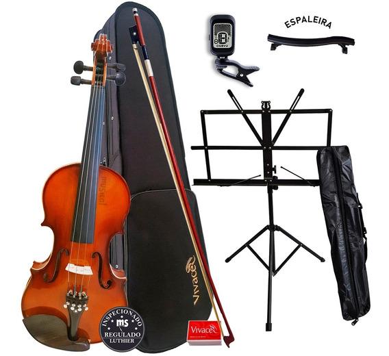 Violino 4/4 Vivace Be44 Kit + Estante + Afinador + Espaleira