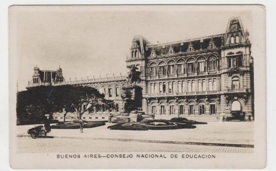 Antigua Postal Buenos Aires Consejo Nacional De Educacion