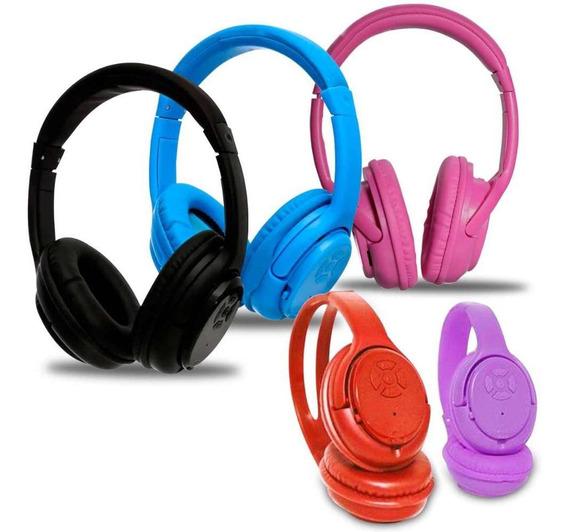 Fone De Ouvido Bluetooth 3.0 Sd Mp3 Fm - Kp-360-roxo