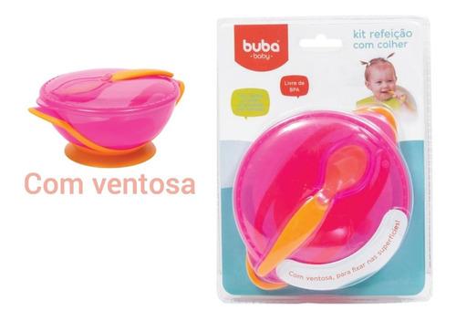 Kit Refeicao Infantil E Bebe Prato Com Ventosa Tampa Colher