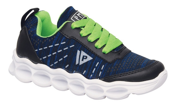 Zapatillas Lite Run Azul Plumitas Original