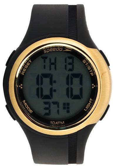 Relógio Speedo Preto Com Dourado Digital 80587l0evnp2