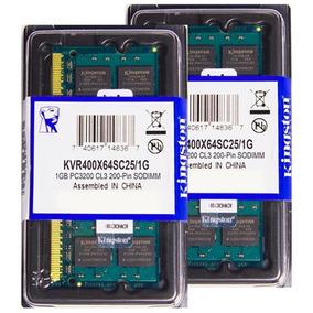 Memória Kingston Ddr1 1gb 400 Mhz Notebook 16 Chips 2.5v