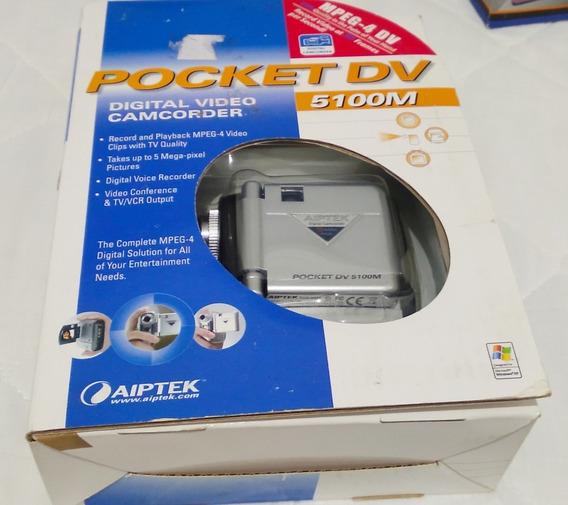 Filmadora Digital Pocket 5100m Camcorder Aiptek Nova Veja