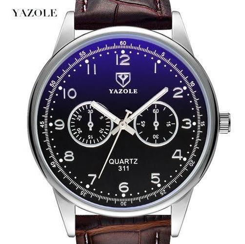 Relógio Masculino Yazole® Pulso Pulseira Couro Luxo
