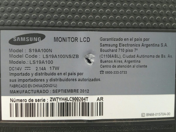 Display Led Monitor Aço S19a100n