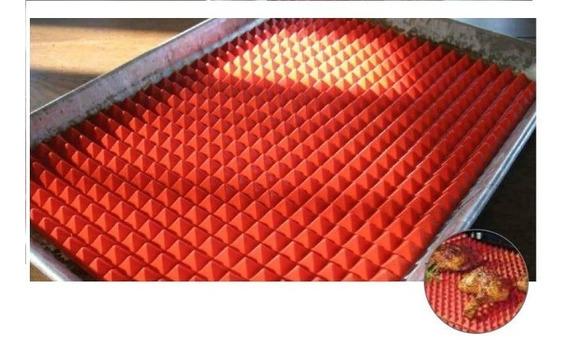 Tapete De Silicone Assar Carnes Sem Gordura 38 X 27 Cm