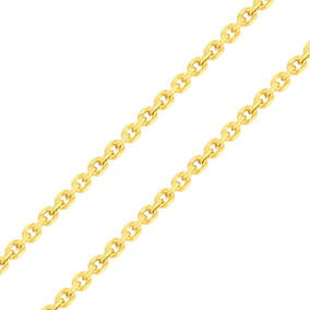 Corrente De Ouro 18k Masculina - Elos Grumet Arredondados