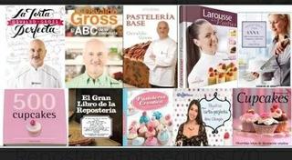 15o Libros De Reposteria, Panaderia, Gelatinas, Tortas Frias