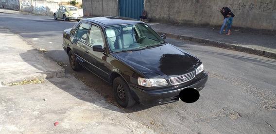 Toyota Corolla Sedan Xei 1.8 16v 4p Preto 2000 Couro