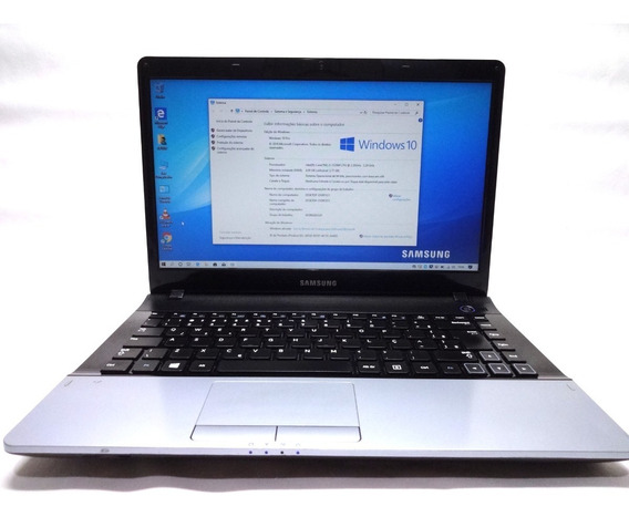 Notebook Samsung Np300e4c Core I3 4gb 320gb Win 10 Seminovo