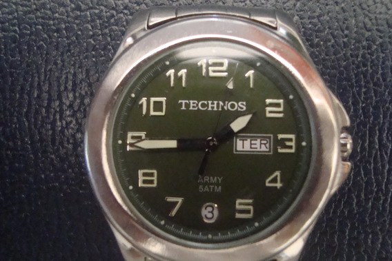 Relogio Technos Army Verde Estilo Militar Oferta