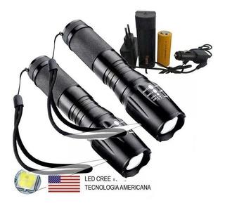 2 Lanternas Tática Militar 900 Recarregável Police Zoom