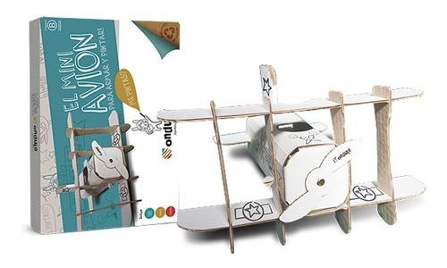 Juguete Didáctico Niños Avión P/pintar + Stickers +  Colores