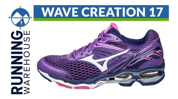 t�nis mizuno wave creation 19 feminino - preto e rosa 427