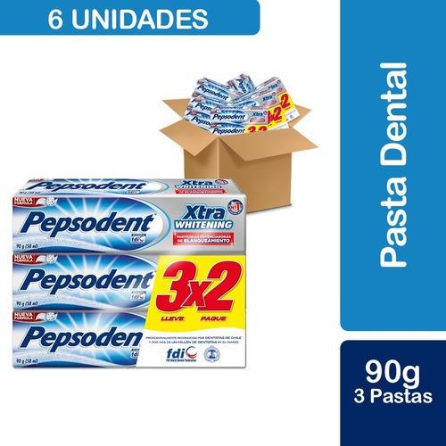 6 Und Pepsodent Pack X3 Pasta Dental Xtra Whitening 90g