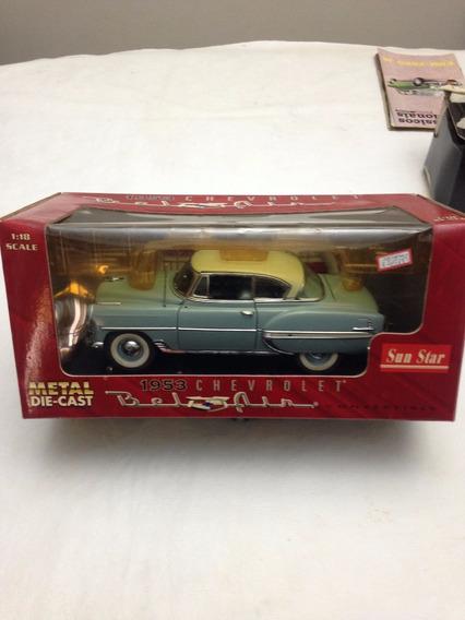 Miniatura De Carro Belair 1953 Nas Caixa Lacrada Escala 1/18
