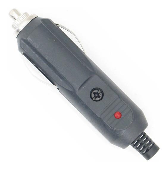 10 * Plug Tipo Cigarreira Automotiva Macho Led Fusível De 5a